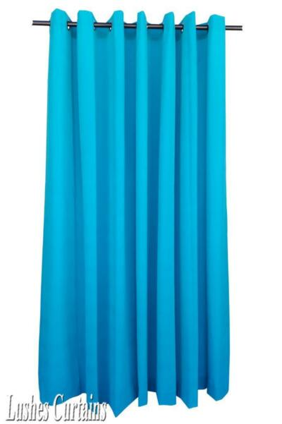 Turquois 108 inch H Velvet Curtain Panel w/Grommet Top Eyelets Window Draperies