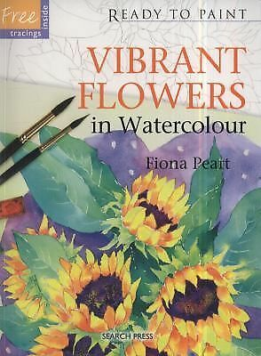 Vibrant Flowers in Watercolour Ready to Paint)