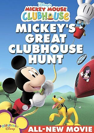 Mickey Mouse Clubhouse - Mickey's Great Clubhouse Hunt, Good DVD, Will Ryan, Fra
