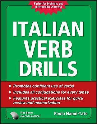 Italian Verb Drills, Third Edition (Drills Series), Nanni-Tate, Paola, Good Book