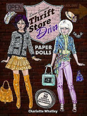 Thrift Store Diva Paper Dolls (Dover Paper Dolls) by Whatley, Charlotte