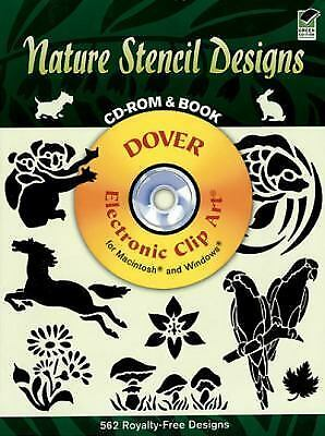 Nature Stencil Designs (Dover Electronic Clip Art) (CD-ROM and Book) by Dover