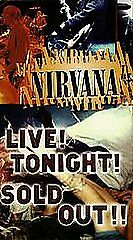 Nirvana, Live Tonight Sold Out [VHS], Acceptable VHS, Jonathan Ross, Krist Novos