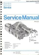 Philips Original Service Manual für Auto cassette deck P 6