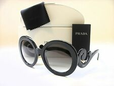 AUTHENTIC PRADA PR27NS 1AB3M1 MINIMAL BAROQUE BLACK/GREY GRADIENT SUNGLASSES
