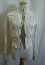G by GUESS Women/Girl Sz XL White Zippered Jacket