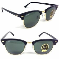 New Original Ray Ban Clubmaster Classic RB3016 W0365 51mm Black Green G-15