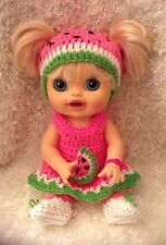 Clothes For 16 Inch Dolls Baby Alive Real Surprises. Watermelon Dress Set