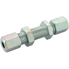 Hydraulic Compression Equal Bulkhead Tube Connector 8mm 8S DIN2353 Pk2
