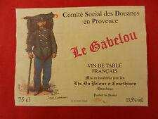 étiquette vin - Cuvée du Cercle des sous Off - Garnison de Nancy - 21 Côte d'Or