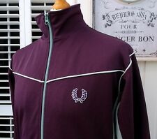 Fred Perry Purple Cut & Sew Track Jacket - S/M - Mod Scooter Ska Casuals Vintage