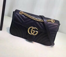 Preowned Gucci Women's Marmont Matelasse Quilted Leather Crossbody Bag