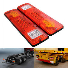 2X 19 LED Trailer Truck RV ATV Rear Tail Running Reverse Light Indicator Lamp