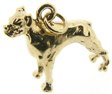 9Carat 9ct Yellow Gold Boxer Dog Charms Pendant Solid Full Body Standing 8grams
