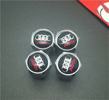 4PCS Audi Tire Wheel Rims Stem Air Valve Caps Tyre Cover Car Truck Bike