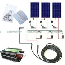 300Watts COMPLETE KITs:3*100W Photovoltaic PV Poly Solar Panel for 12V Boat