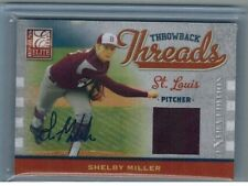 Shelby Miller 2009 Donruss Elite Throwback Threads Rookie Jersey Auto 02/100