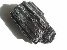one Lg 72mm NATURAL ROUGH BLACK TOURMALINE CRYSTAL92.4.6g BRAZIL;Reiki;Wicca #22