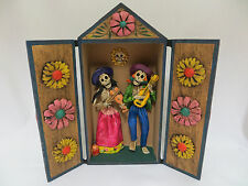 Skeleton Retablo Musician Day of the Dead Jesus Jimenez Dia de los Muertos 8""