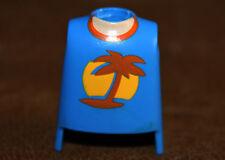 Playmobil pièce détachée buste torse tshirt palmier pour custom ref aa
