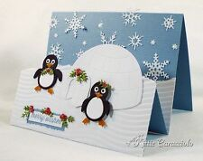 Impression Obsession PENGUIN & IGLOO Steel Die DIE102-P New Christmas Winter
