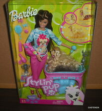 NRFB MATTEL BARBIE DOLL 2002 STYLIN PUP SUPER CUTE!!  #56684