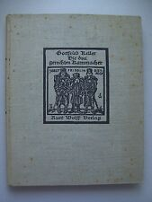 Die drei gerechten Kammacher 1923 mit Holzschnitten Gottfried Keller