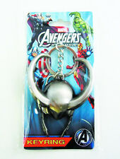 Marvel Avengers Loki Helmet Keychain NEW Pewter Keyring Accessory Toys Bad Guys