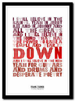 FRANK TURNER - I Still Believe- song lyric poster typography art print - 4 sizes