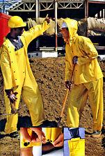 Wet Wear 65-200 X-Lge Yellow Rainsuit, jacket, detachable hood & suspender pants