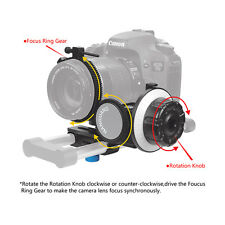 Follow-focus CN-90F with Gear Ring Belt for Canon Nikon DSLR Camera Camcorder US