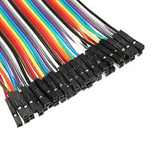 40pcs Dupont 10CM Male To Female Jumper Wire Ribbon Cable for Arduino Sale JB72