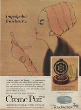 Publicité Advertising  creme puff de MAX FACTOR