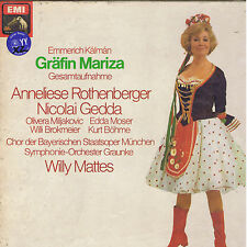 Kalman GRAFIN MARIZA Rothenberger Gedda Mattes 2 LP BOX EMI sealed SIGILLATO