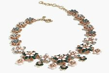 JCREW FLORAL STATEMENT SOFT BLOSSOM NECKLACE-NEW WITH TAG