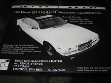 Hollandia Starlight Sunroof period accessory advert with Damiler Jaguar XJ6 XJ12