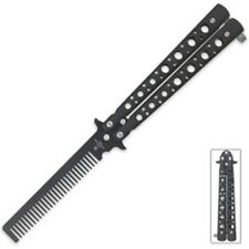 Practice Butterfly Balisong Trainer Comb Knife Dull NEW BK1651