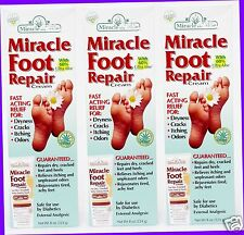 3 Miracle Aloe FOOT REPAIR CREAM Fast Relief for Dry Cracked Odor Itchy Feet 8oz