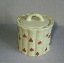 Wedgwood Jasperware Yellow & Terracotta Cane Preserve Lidded Pot