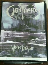 Obituary World demise 1993 vintage dead stock backpatch patch deicide carcass lp
