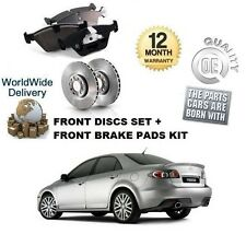 Per Mazda 6 2.3 MPS Turbo l3kg 2005-2008 Dischi Freno Anteriore Set + KIT DISCO PASTIGLIE