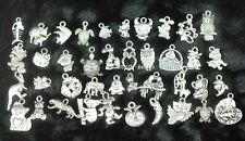 Wholesale 100pcs Bulk Lots Tibetan Silver Mix Charms Pendants