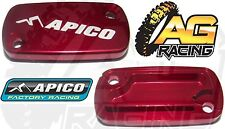 Apico Red Front Brake Master Cylinder Cover For Honda CRF 450R 2002-2013 New