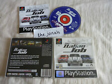 The Italian Job PS1 (COMPLETE) black label Sony Playstation car driving racing