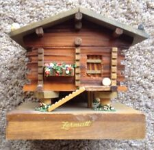 "Vintage Zermatt Swiss Chalet Wood Music Box ""Le Vieux Chalet 7206""/Switzerland"