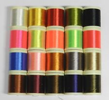 20 SPOOLS OF 100 YD DANVILLE 210 DENIER WAXED FLYMASTER THREAD FLY AND JIG TYING