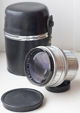 Carl Zeiss Jena BIOTAR Lens 1.5/75mm Red-T Rare 18-BLADES version Exakta