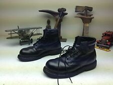 MADE IN USA RED WING BLACK LEATHER STEEL TOE LACE UP ENGINEER WORK FARM BOOTS 8M