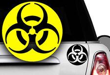 2x Biohazard Gabber Hardstyle OEM Sticker Auto Aufkleber Zombie JDM Apokalypsex