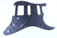 Matte Black Aluminum Diamond Plate HSS Strat Pickguard Fits Fender Stratocaster